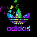 Neon Adidas Logo