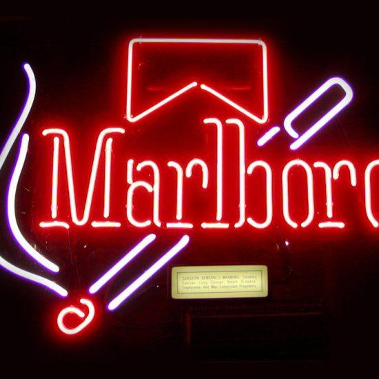 Malboro Logo Neon